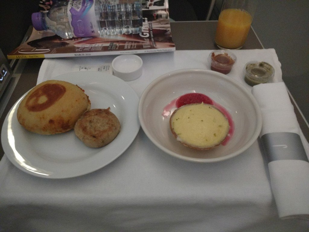 British airways afternoon tea in business class