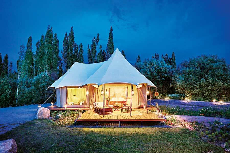 luxury camps in India
