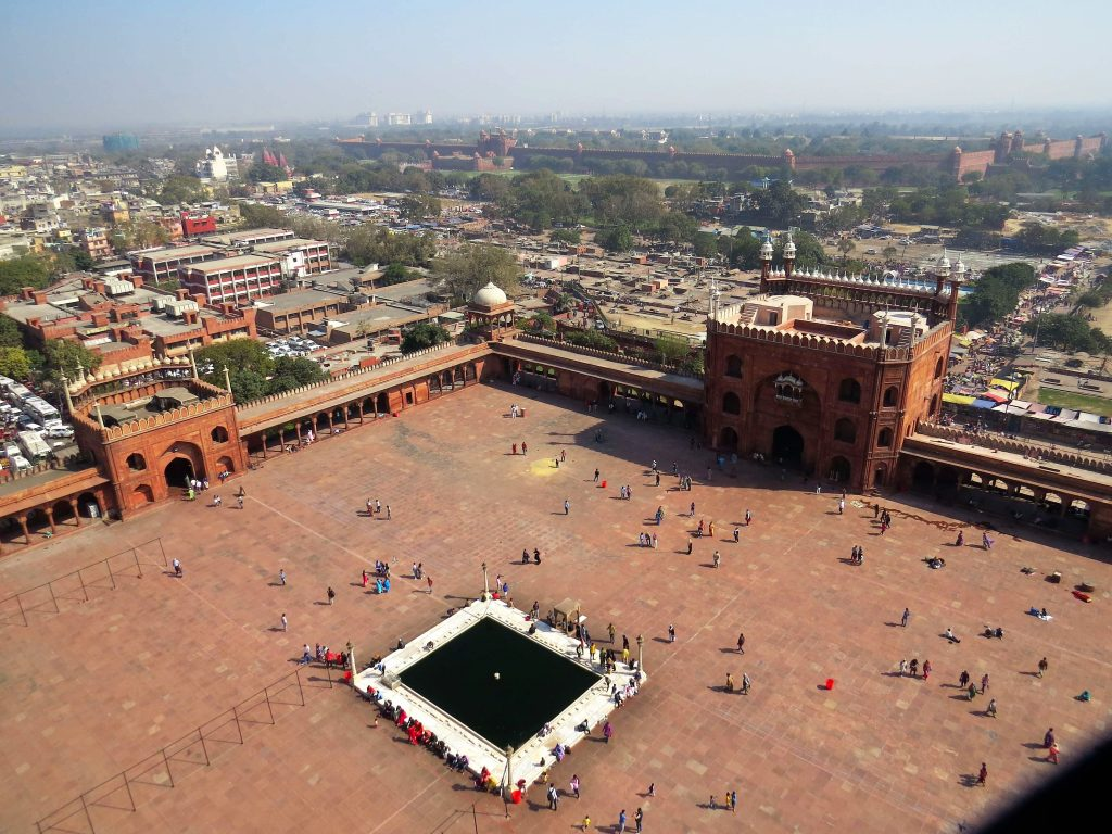 View of Jama Masjid from minaret Old Delhi