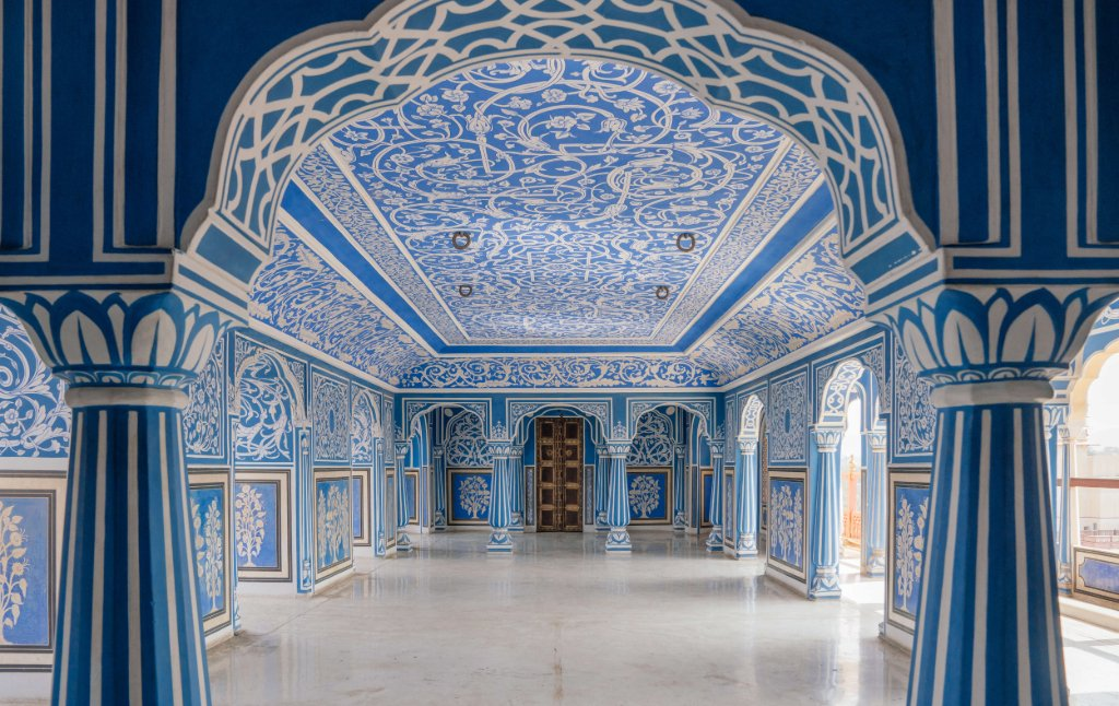 Blue room private rooms city palace jaipur