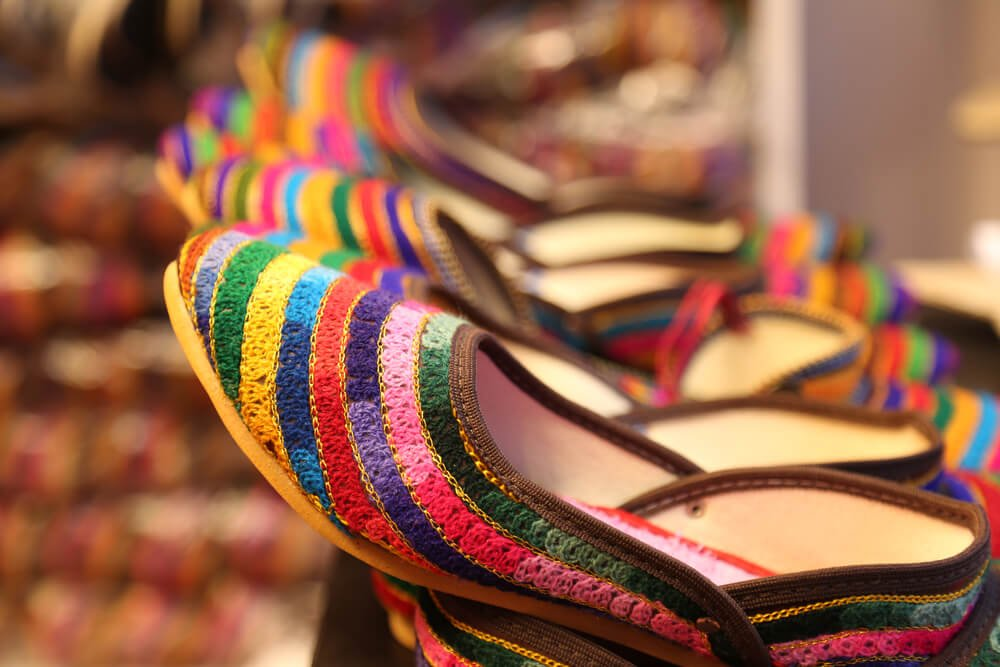 Traditional shoes in Rajasthan